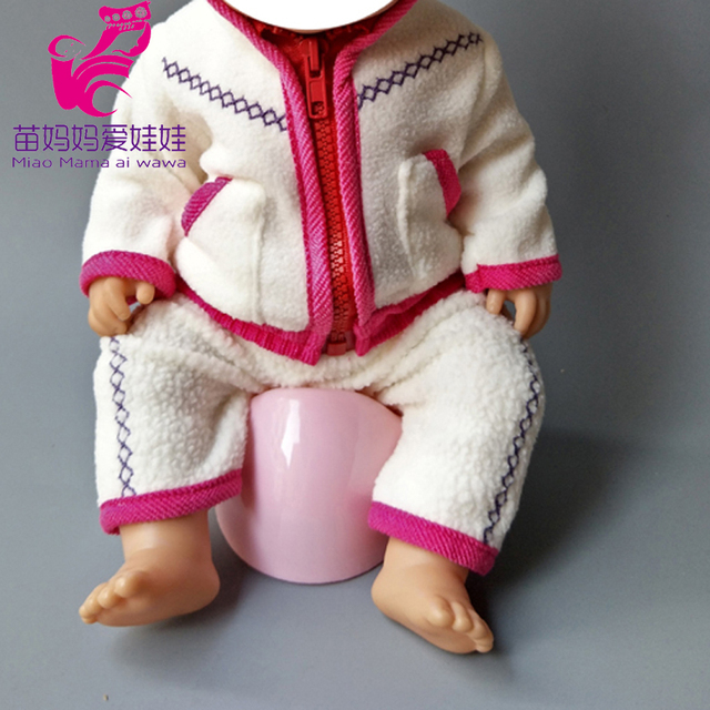 Dolls Rompers Fit 43cm  Baby Doll 18 Inch girl boy Doll pajama Clothes kids play toys 4