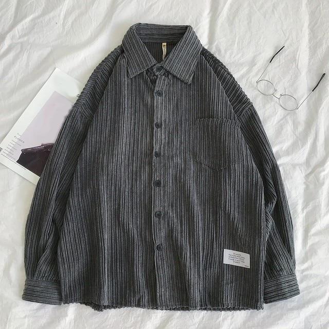 Corduroy Long Sleeve Casual Shirt 5