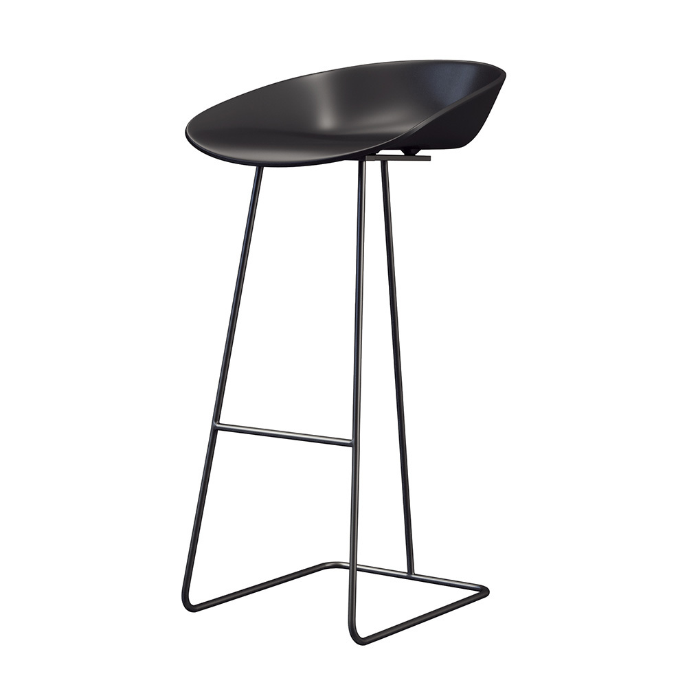 Nordic Bar Stools Wrought Iron Creative Modern Minimalist Bar Stools Cafe Gold Bar Stool Front High Stool