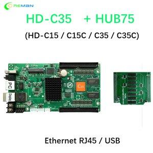 Image 2 - HD C35C kontroler asynchroniczny USB + Ethernet pełne kolorowe wideo karta kontrolna ekranu LED 10xhub75e port hd c35c