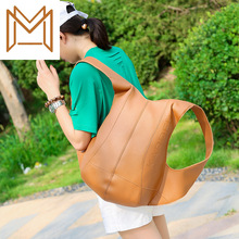 Wind Concise Capacity Trend Both Shoulders Package Personality Solid Color Backpack Men Women Travelling Bag