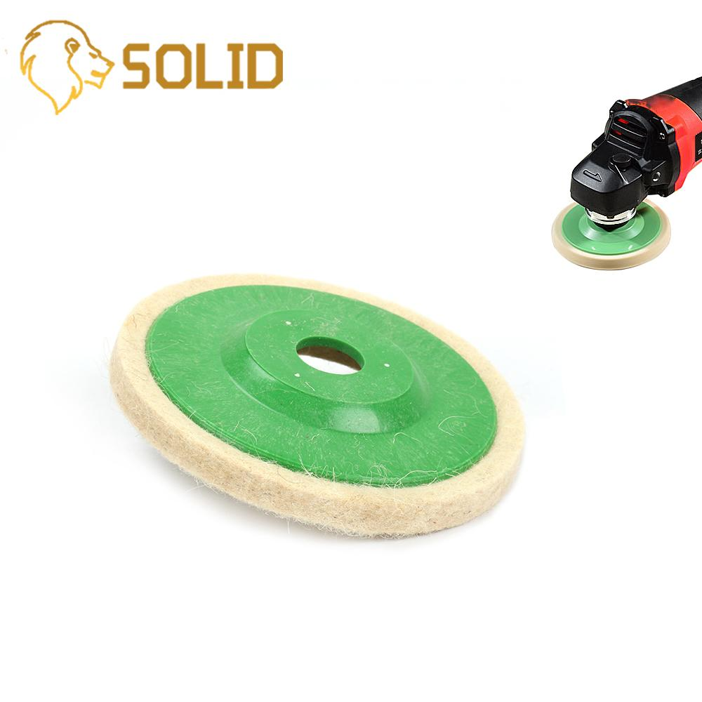 100MM Wool Polishing Pad Green Cover Felt Polishing Pad Set For Angle Grinder Abrasive Rotary Tool 10Pcs/Set