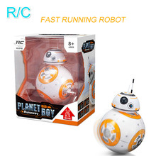 Star BB-8 Wars RC Robot Remote Control BB8 Action Figure Monster Movie BB 8 Ball Toy Intelligent Kid Birthday Gift Fast Shipping new 13cm star wars the last jedi bb8 bb 8 night light eyecare usb charging droid robot model action figure toy christmas gift