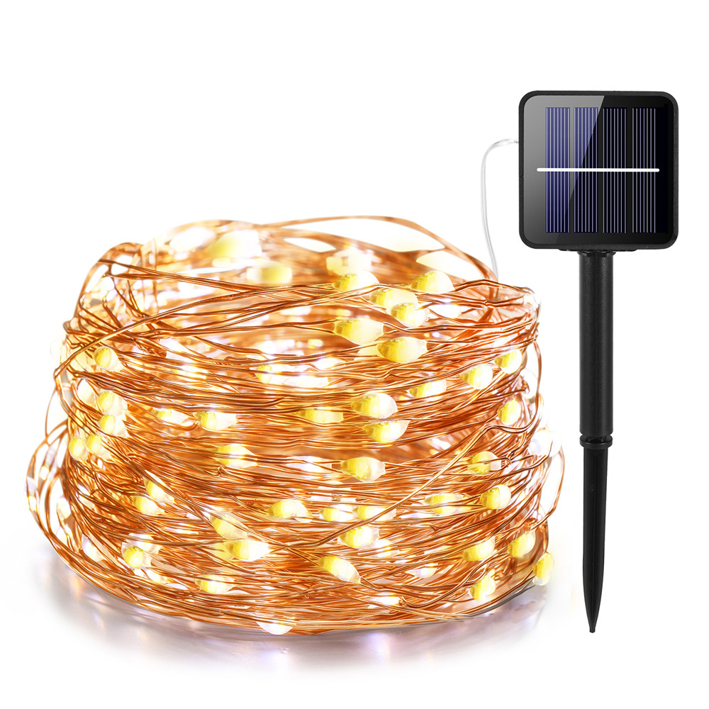 IR Dimmable 11m/21m/31m/51m  LED Outdoor Solar String Lights solar lamp for Fairy Holiday Christmas Party Garland Lighting