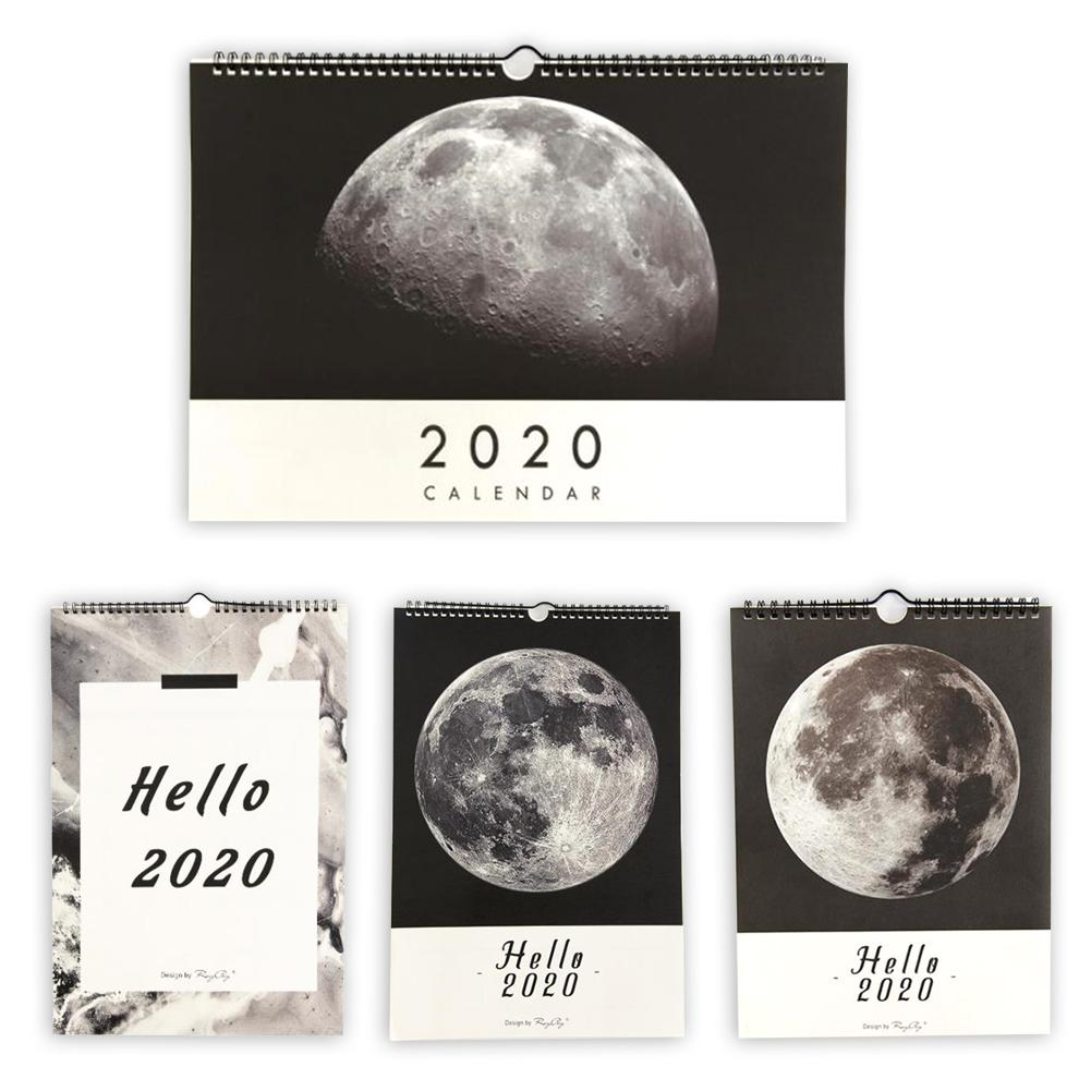 2020 Schedule Calendars Original Hand-Painted Illustration Wall Calendar From October 2019 Through December 2020