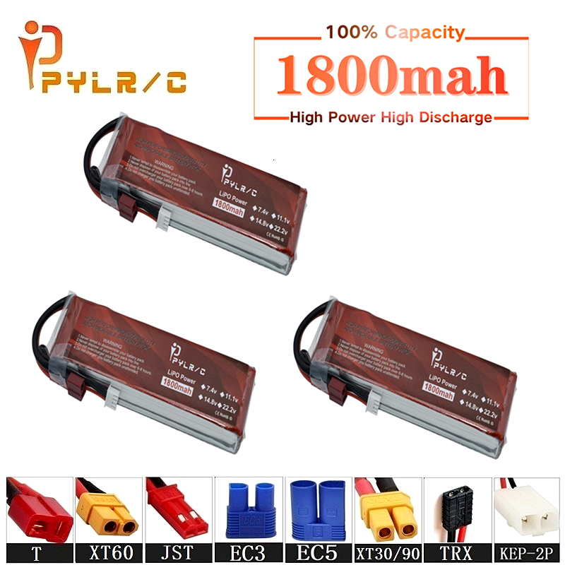 High Rate 14.8v 1800mAh Lipo Battery For RC Helicopter Parts 4s Lithium battery 14.8v 50C RC Cars Airplanes Drone Battery T/XT60(China)
