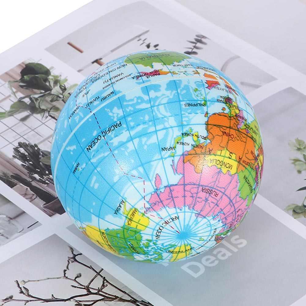 1pcs di Modo Divertente Morbido Terra Mappa Del Mondo Globe Foam Stress Relief Bouncy Palla Geografia Mappa Insegnamento Mano Palla Squeeze