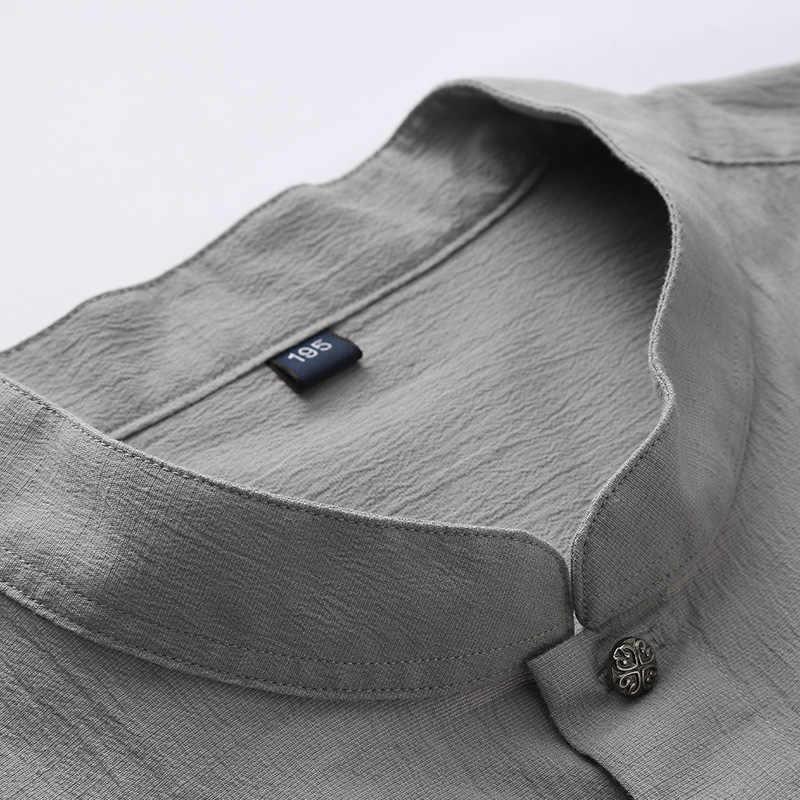 Yeni artı boyutu 8xl 7xl 6xl 5xl standı artı boyutu erkek gömleği eğlence pamuk büyük gübre ekleyin artan boy gömlek gelgit