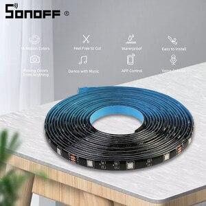 Image 4 - Sonoff L1 Smart LED Licht Streifen Wasserdicht Smart WiFi Flexible RGB Streifen Lichter APP Stimme Concrol Arbeit mit Alexa Google hause