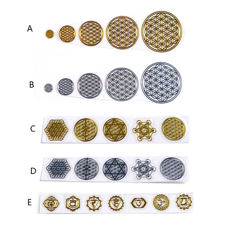 7 Chakra Geometric Copper Energy Tower Orgonite Stickers Flower Life Tree Pyramid Epoxy Resin Material Jewelry Making