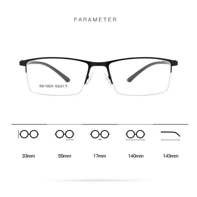 Купить мужские очки в оправе из сплава деловом стиле полуободковые картинки цена