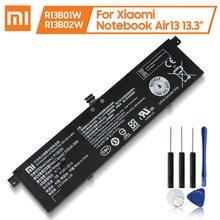 Xaiomi bateria de substituição original r13b01w r13b02w para xiaomi mi notebook ar 13 13.3