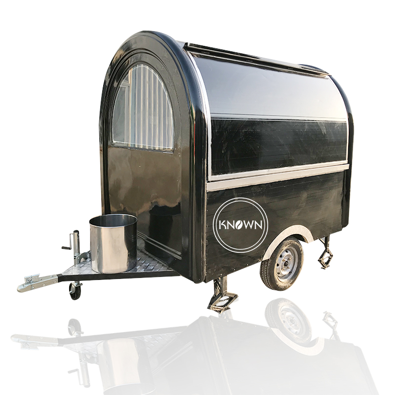 Black Color KN-220B 2.2M Length Mobile Food Carts/trailer/ Ice Cream Truck With Free Shipping By Sea