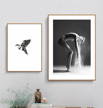 Black And White Figure Poster Dance Photography Wall Art Canvas Painting Nordic For Living Room Home Decor Unframed