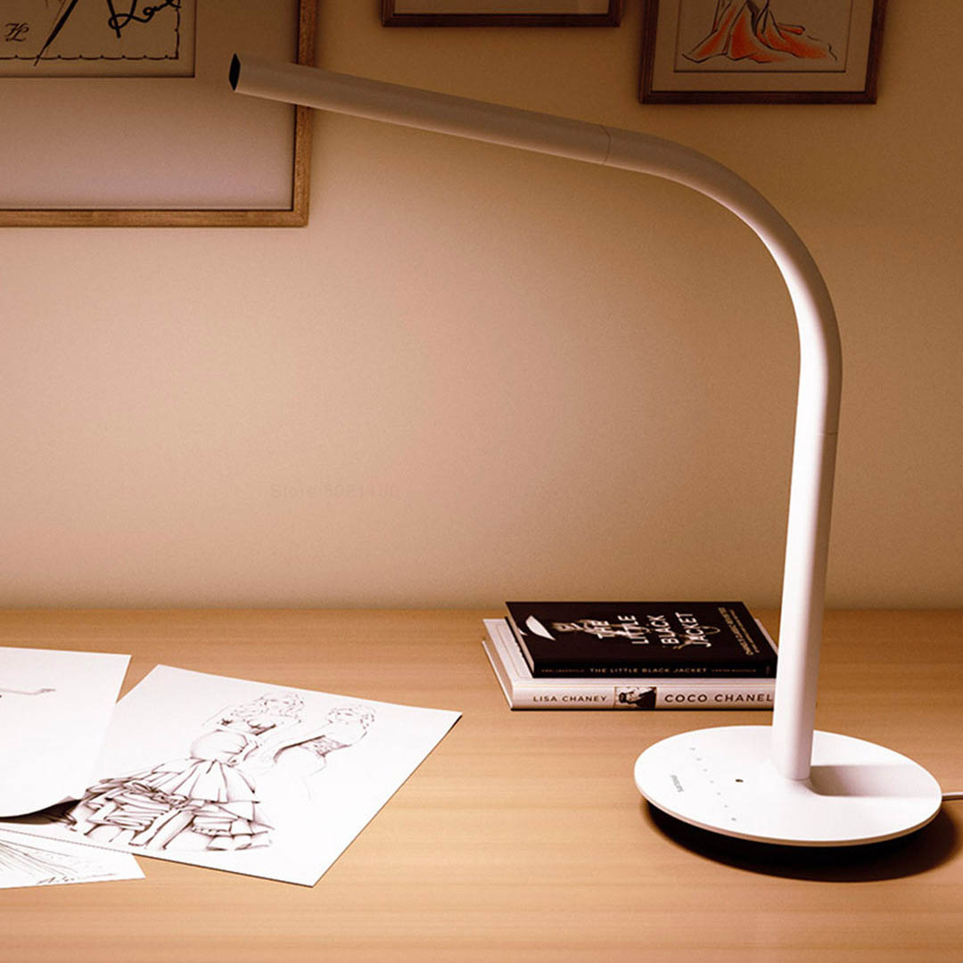 Image 5 - XIAOMI MIJIA Philips Table Lamp 2 LED Smart desk lamp bending study lamp read office table light Double light source APP control-in Desk Lamps from Lights & Lighting