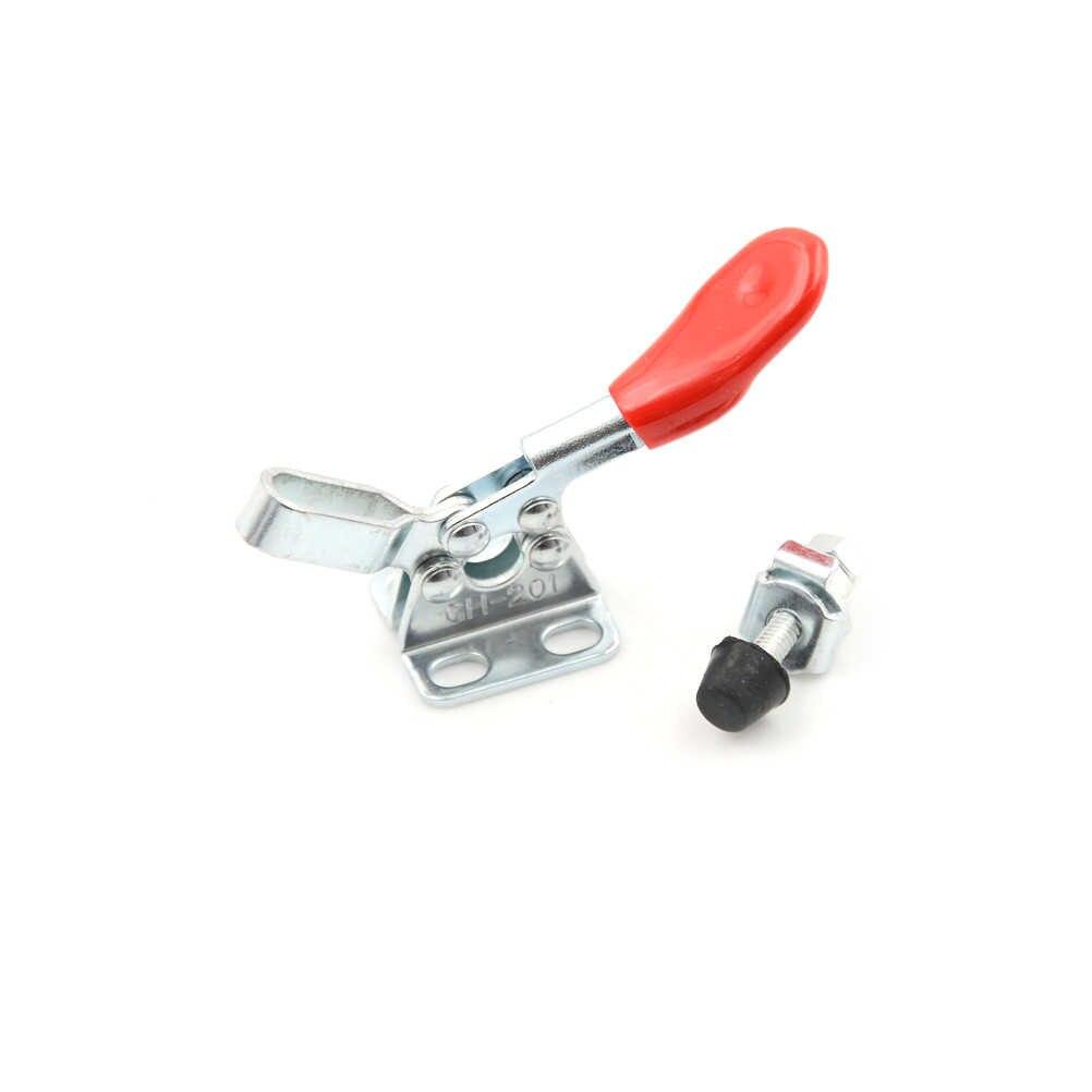 90kg 198Lbs abrazadera de palanca Vertical/Horizontal abrazadera de palanca de liberación rápida abrazadera de palanca antideslizante Push Pull herramienta de mano