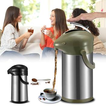 3L Insulated Stainless Airpot Thermal Flask Coffee Hot Drinking Container Pot Double Insulation Thermoses Bottle With Cap