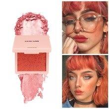 Perłowy rumieniec brzoskwinia paleta róży twarz Imagic Focallure Novo piękno szkliwione Miss Rose Maquillaje Coreano makijaż Colorete TSLM1