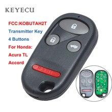 Keyecu nova chave do transmissor de controle remoto para honda accord 1998 1999 2000 2001 2002 para acura tl 2000 2001 chave do carro, kobutah2t