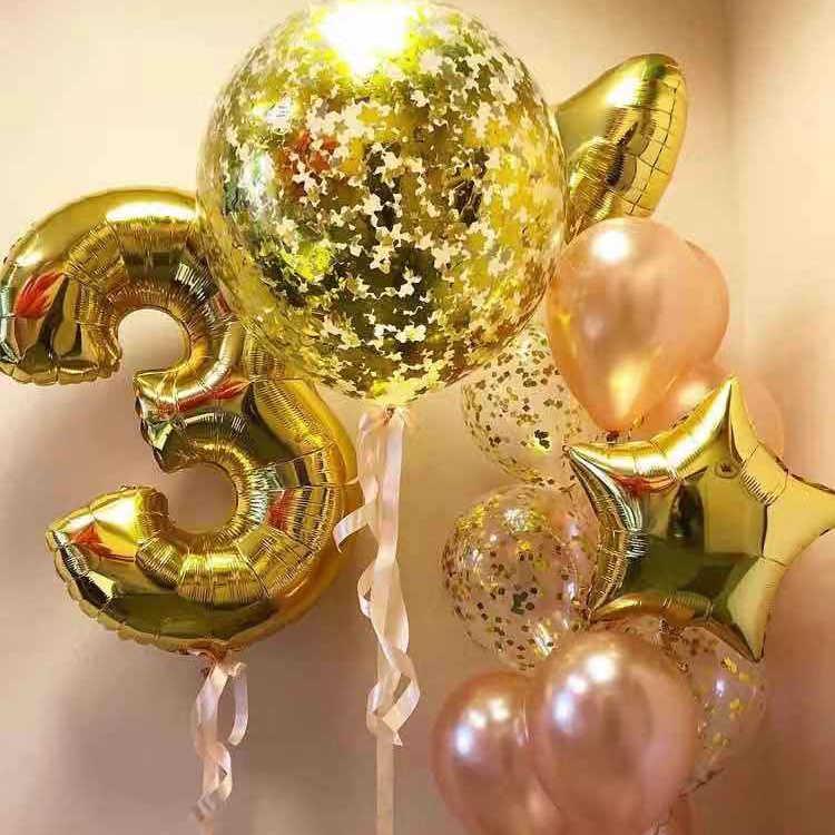 30 40 Cal duże foliowe balony urodzinowe powietrze helem balon w kształcie cyfry dekoracja urodzinowa dzieci złoto srebro zielone figury Ballon