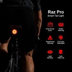 SHANREN 자전거 테일 라이트 스마트 자동 브레이크 감지 사이클링 라이트 방수 Usb 충전식 자전거 후면 조명 안전 경고 램프