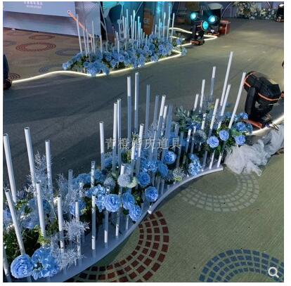 wedding : New wedding props with a variety of arc T stage guide stage background decoration S-shaped PVC line spectrum round fence