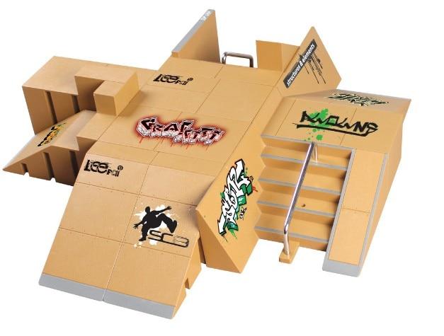 11pcs Skate Park Kit Ramp Parts For Tech Deck Fingerboard Mini Finger Skateboard