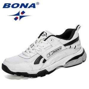Image 5 - BONA yeni tasarımcılar erkek Sneakers koşu ayakkabıları erkek spor ayakkabılar açık atletik Krasovki tenis ayakkabıları adam koşu ayakkabıları