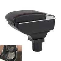 For Toyota yaris vitz Armrest box Centre Console Storage Box with USB interface decoration accesso Armrests     -