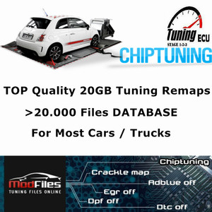 Top 20GB Tuning Remap Files CHECKSUM OK For Cars Trucks Modified ECU Chip Tuning Maps Work With KESS/KTAG/FGTECH ECU Programmer(China)