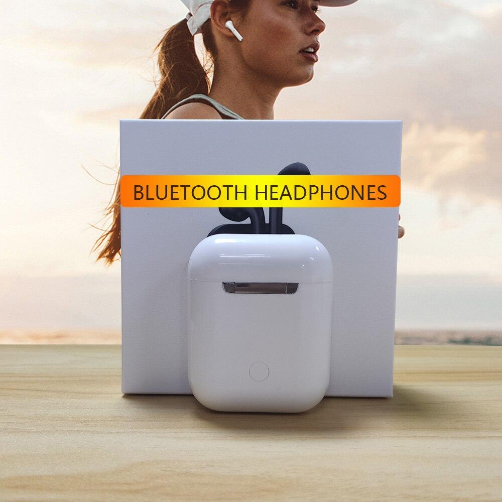 Matte Bluetooth Headset Drahtlose ohr Kopfhörer Hände frei Business Ohrhörer Touch Pop up wireless headset sport für smart telefon