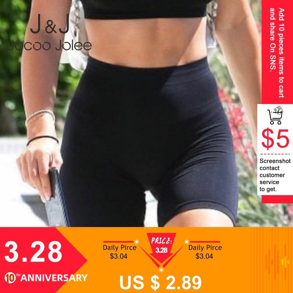 Jocoo Jolee Sexy Short Leggings High Waist Black Crop Fitness Leggings Athleisure Summer Ladies Casual Workout Leggings