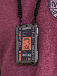 DIENQI RFID Metal Cardholder Wallet Men Business Badge Credit Card Holder Small Aviator Minimalist Wallet for Card Man Tarjetero
