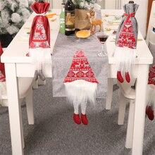 1 шт. Рождественская скатерть Санта Клаус настольный бегун банкетный стол в гостинице флаг для свадебной вечеринки рождественское разноцветное украшение для дома