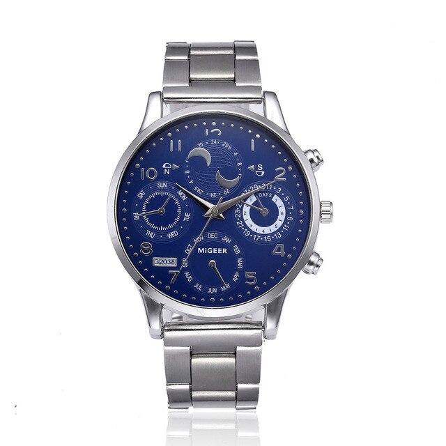 Luxury Brand MIGEER Mens Watches Fashion Sport Quartz Watch Stainless Steel Men Watches man watch Clock horloges manne