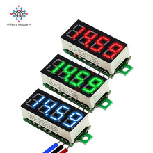 Цифровой мини-вольтметр, 4-значный измеритель напряжения постоянного тока 0-0,36 в, 100 дюйма, для автомобилей и мотоциклов