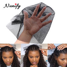 Nunify 1Pcs/Lot Black Color Hairnets Women Hair Toupees Stretch Lace Wig Net Hair Weaving Nets For Hair Weft Hair Net Online(China)
