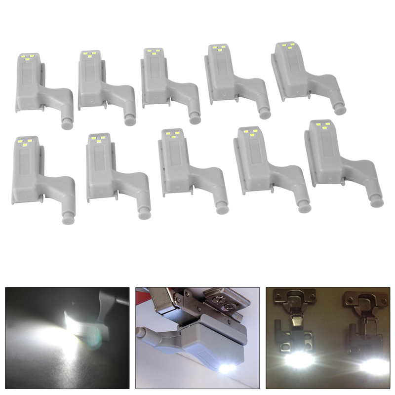 5pcs Universal LED Cabinet Light Motion Sensor Cupboard Inner Hinge Lamp Wardrobe Closet Night Light For Home Kitchen