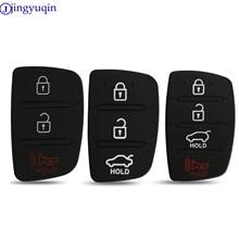 jingyuqin 10ps Replacement Rubber Pad 3/4 Buttons Flip Car Remote Key Shell For Hyundai I30 IX35 Kia K2 K5 Key Cover Case