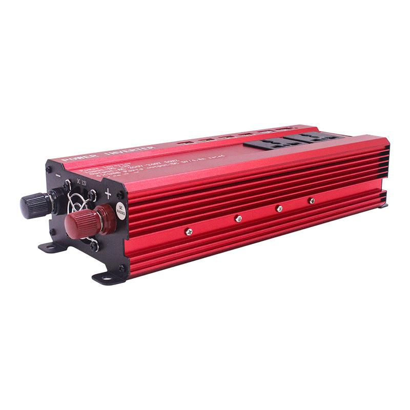 Car Interface 2000W Portable Car Power Inverter Charger Converter Adapter DC 12 to AC 220 Modified Sine Wave Auto Accessories image