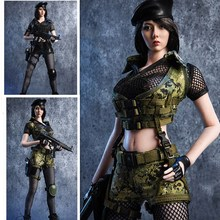18XG13 1/6 Scale Female Sexy Asian beauty agent gunman clothing Battlefield Girl Black GREEN Clothes Fit 12