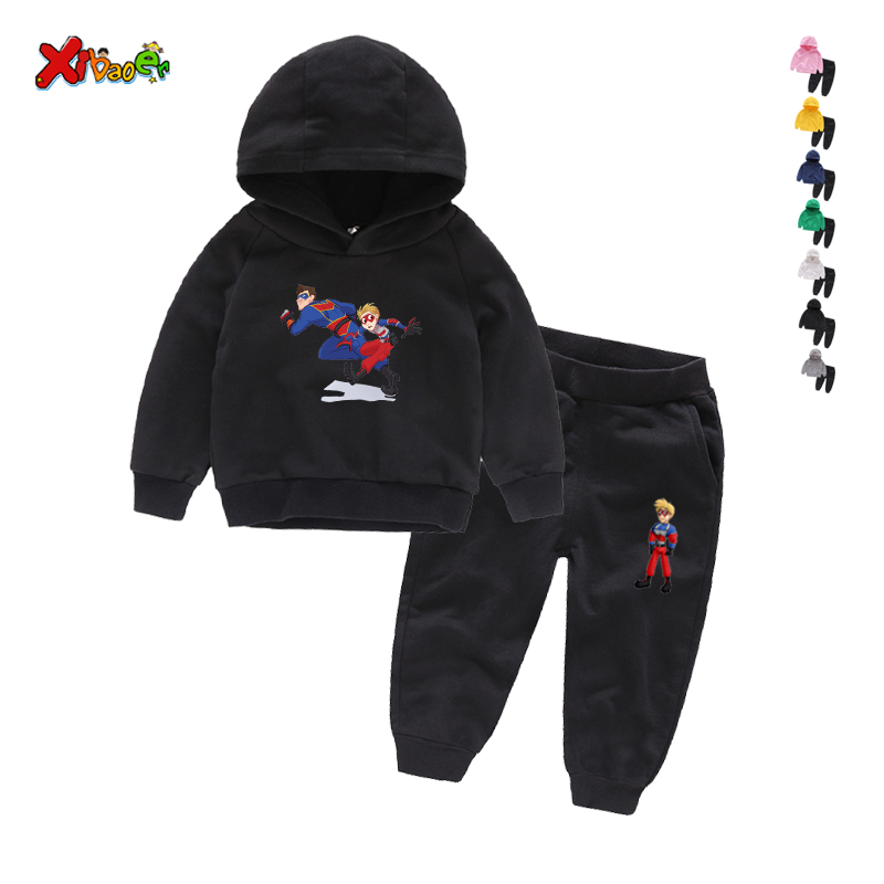 Children Henry Danger Sets 100% Cotton Kids Hoodies Boy Outfit Sports Suit 2-9T Boys Girls Suits Cotton 2T-9T Child Clothes