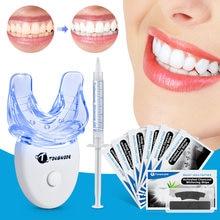 Dentes dentários branqueamento tiras kit de higiene oral com dentes clareamento led acelerador luz peróxido gel caneta dental branqueamento ferramenta