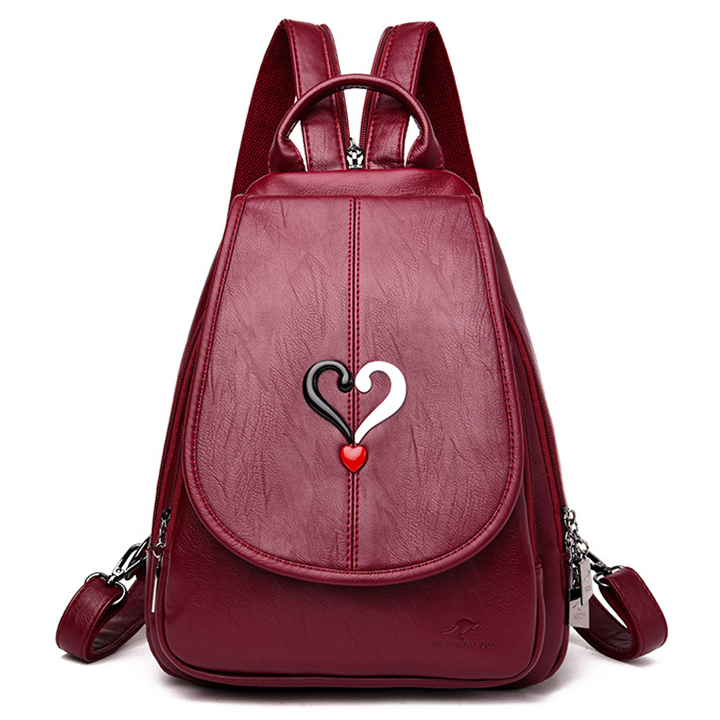 MANHAN Fashion Backpack Women 2020 Anti Theft Backpack Female High Quality PU Leather Backpack Solid Women Backpack School