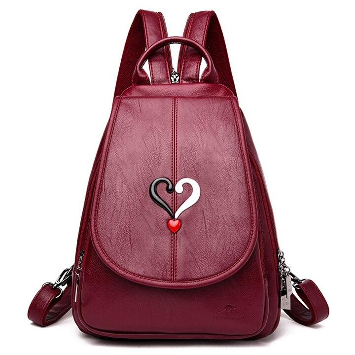 Женский рюкзак с защитой от кражи MANHAN, модный рюкзак из искусственной кожи высокого качества для школы, 2020|Рюкзаки|   | АлиЭкспресс