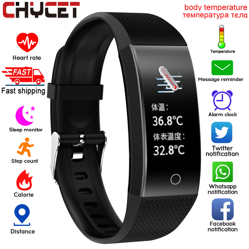 Smart Watch Body Temperature Smartwatch Ip68 Waterproof Heart Rate Fitness Tracker Smart Watches Men Women For Android IOS 2020 1
