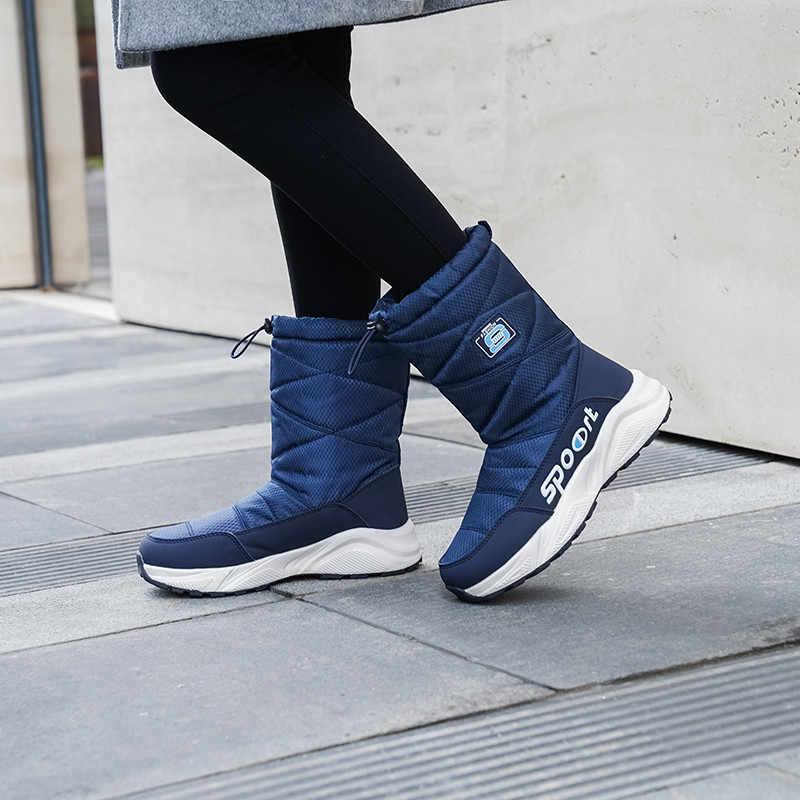 FEDONAS Kış sıcak Rahat Kar Botları Kadın Aşağı kumaş yarım çizmeler Platformu Çizmeler Kadın Yeni Artı Boyutu rahat ayakkabılar Kadın