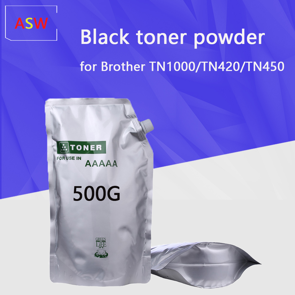 500G Pó De Toner preto Compatível para O Irmão TN1000 TN1030 TN1050 TN1060 TN1070 tom HL 1110 1112 1202R impressora|Pó p/ toner|   -