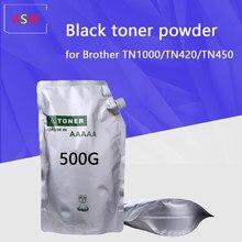 500G Pó De Toner preto Compatível para O Irmão TN1000 TN1030 TN1050 TN1060 TN1070 tom HL-1110 1112 1202R impressora