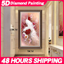 Meian Special Shaped Diamond Embroidery China Animal Peacock 5D Diamond Painting Cross Stitch 3D Diamond Mosaic Decoration